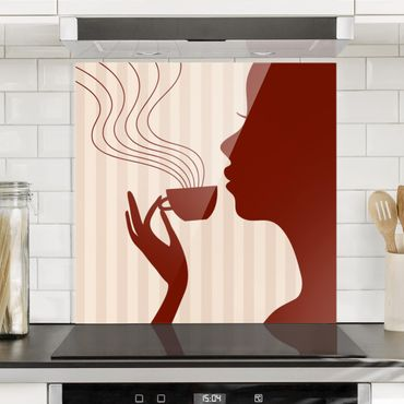 Paraschizzi in vetro - Hot Coffee - Quadrato 1:1