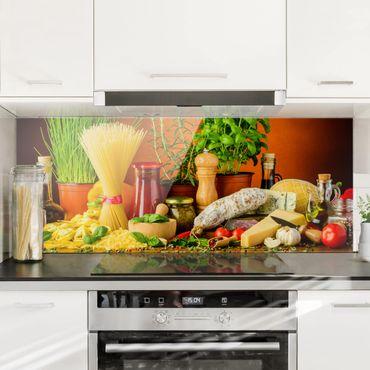 Paraschizzi in vetro - Italian Kitchen - Panoramico