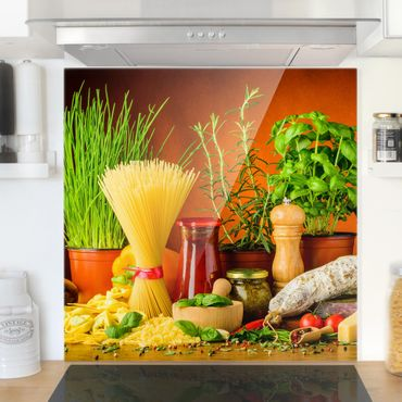 Paraschizzi in vetro - Italian Kitchen - Quadrato 1:1