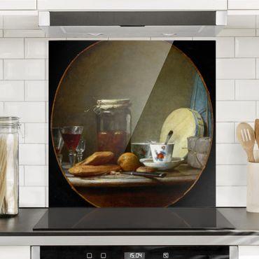 Paraschizzi in vetro - Jean-Baptiste Siméon Chardin - Glass With Apricots - Quadrato 1:1