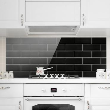 Paraschizzi in vetro - Ceramic Tiles Black - Panoramico