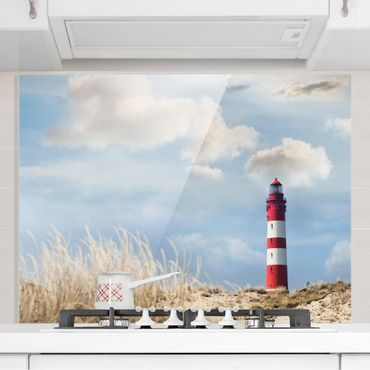 Paraschizzi in vetro - Lighthouse In The Dunes - Orizzontale 3:4