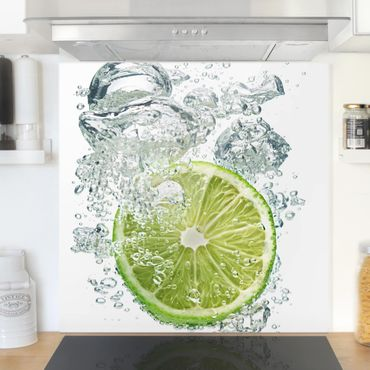 Paraschizzi in vetro - Lime Bubbles - Quadrato 1:1