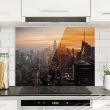 Paraschizzi in vetro - Manhattan Skyline Evening - Orizzontale 3:4