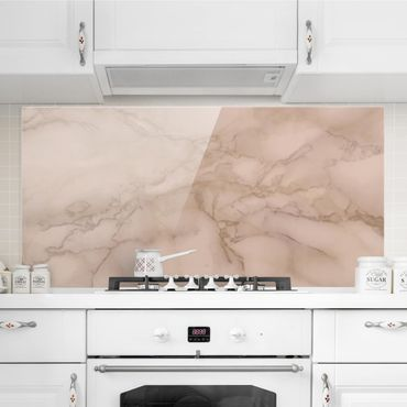 Paraschizzi in vetro - Marble Look Grey Brown - Orizzontale 1:2