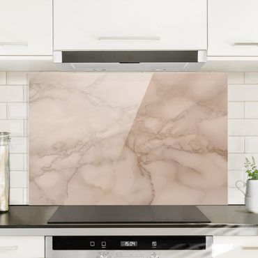 Paraschizzi in vetro - Marble Look Grey Brown - Orizzontale 2:3