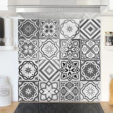 Paraschizzi in vetro - Mediterranean Tile Pattern Grayscale - Orizzontale 2:3