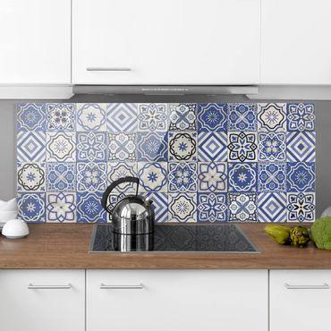Paraschizzi in vetro - Mediterranean Tile Pattern - Panoramico