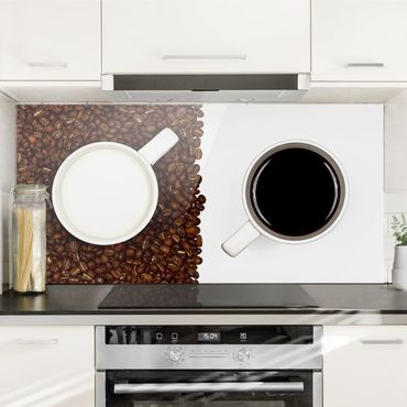 Paraschizzi in vetro - Caffè Latte - Orizzontale 1:2