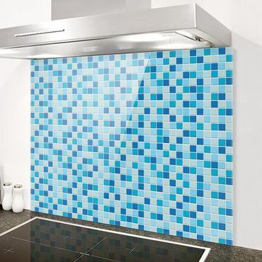 Paraschizzi in vetro - Mosaic Tiles Meeresrauschen - Orizzontale 1:2
