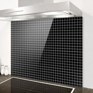 Paraschizzi in vetro - Mosaic Tiles Black Matt - Orizzontale 2:3