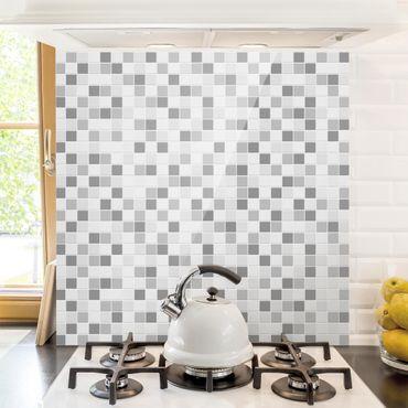 Paraschizzi in vetro - Mosaic Tiles Winterset - Quadrato 1:1