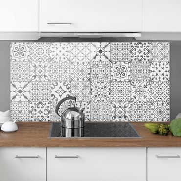 Paraschizzi in vetro - Pattern Tiles Gray White - Orizzontale 2:3