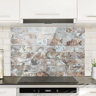 Paraschizzi in vetro - Natural Marble Stone Wall - Orizzontale 2:3