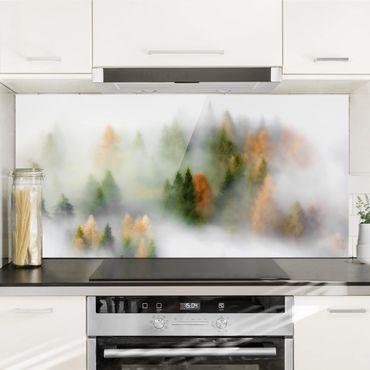 Paraschizzi in vetro - Nube di foresta in autunno - Orizzontale 1:2