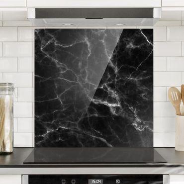Paraschizzi in vetro - Nero Carrara - Quadrato 1:1