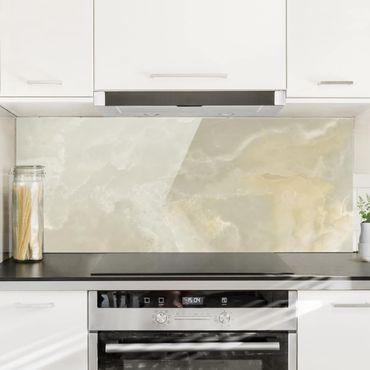 Paraschizzi in vetro - Onyx Marble Cream - Panoramico
