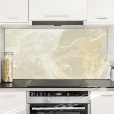 Paraschizzi in vetro - Onyx Marble Cream - Orizzontale 1:2