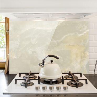 Paraschizzi in vetro - Onyx Marble Cream - Orizzontale 2:3