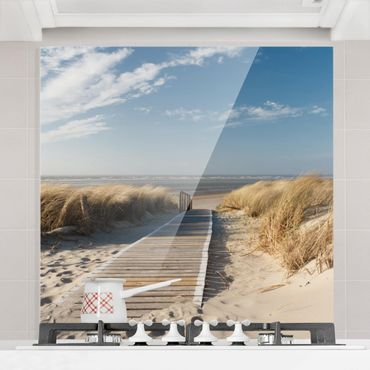 Paraschizzi in vetro - Baltic Sea Beach - Quadrato 1:1