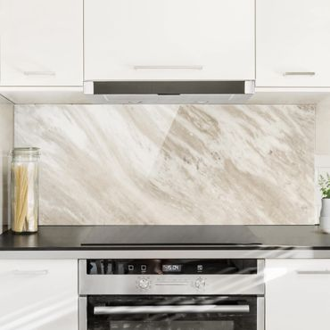 Paraschizzi in vetro - Palissandro Marble Beige - Panoramico