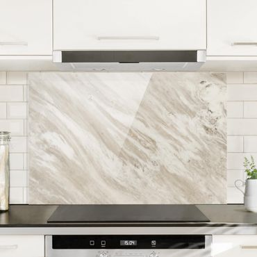 Paraschizzi in vetro - Palissandro Marble Beige - Orizzontale 2:3