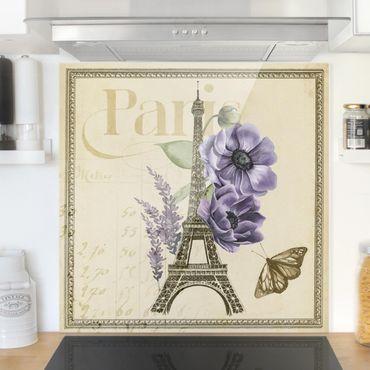 Paraschizzi in vetro - Torre Eiffel di Parigi Collage - Quadrato 1:1