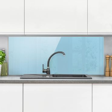 Paraschizzi in vetro - Pastel Blue - Panoramico