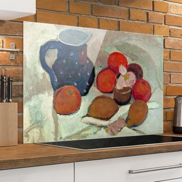 Paraschizzi in vetro - Paula Modersohn-Becker - Still Life With Blue Jug - Orizzontale 2:3