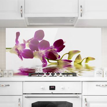 Paraschizzi in vetro - Pink Orchid Waters - Orizzontale 1:2