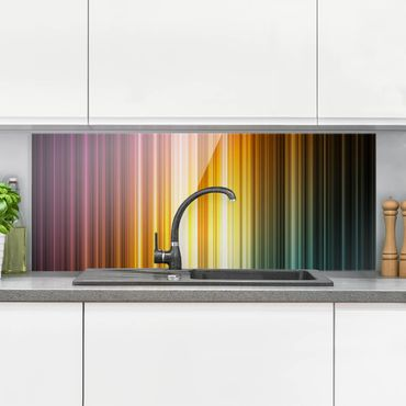 Paraschizzi in vetro - Rainbow Light - Panoramico