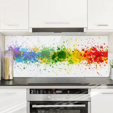 Paraschizzi in vetro - Rainbow Splatter - Panoramico
