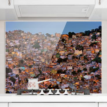 Paraschizzi in vetro - Rio De Janeiro favela Sunset - Orizzontale 3:4