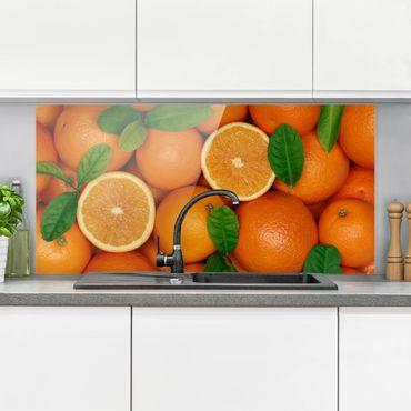 Paraschizzi in vetro - Juicy Oranges - Orizzontale 1:2