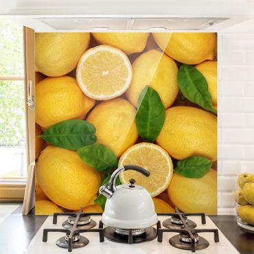 Paraschizzi in vetro - Juicy Lemons - Quadrato 1:1