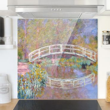 Paraschizzi in vetro - Claude Monet - Bridge Monet's Garden - Quadrato 1:1