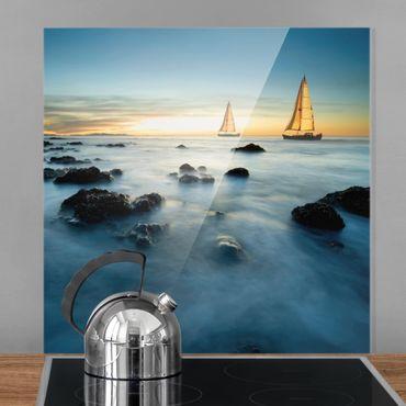Paraschizzi in vetro - Sailboats In The Ocean - Quadrato 1:1