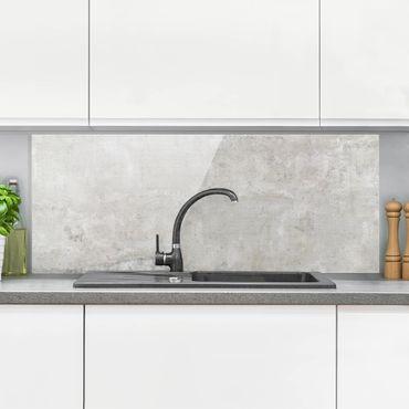Paraschizzi in vetro - Effetto cemento shabby - Panoramico