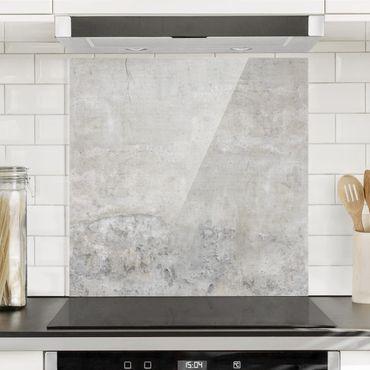 Paraschizzi in vetro - Effetto cemento shabby - Quadrato 1:1
