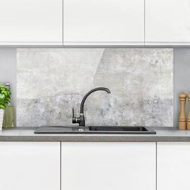 Paraschizzi in vetro - Effetto cemento shabby - Orizzontale 1:2