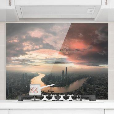 Paraschizzi in vetro - Shanghai Mattina - Orizzontale 3:4