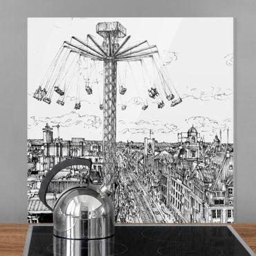 Paraschizzi in vetro - Studi di città - Giostra - Quadrato 1:1