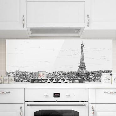 Paraschizzi in vetro - Studi di città - Parigi - Panoramico