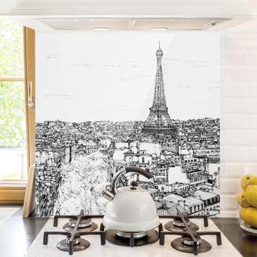 Paraschizzi in vetro - Studi di città - Parigi - Quadrato 1:1