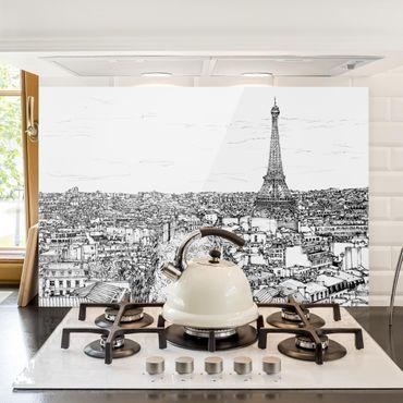 Paraschizzi in vetro - Studi di città - Parigi - Orizzontale 2:3