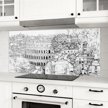 Paraschizzi in vetro - Studi di città - Roma - Panoramico