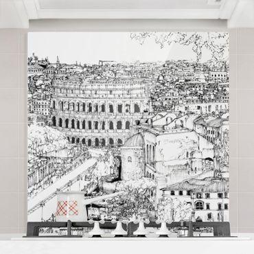 Paraschizzi in vetro - Studi di città - Roma - Quadrato 1:1