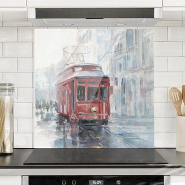 Paraschizzi in vetro - Studio del tram II - Quadrato 1:1