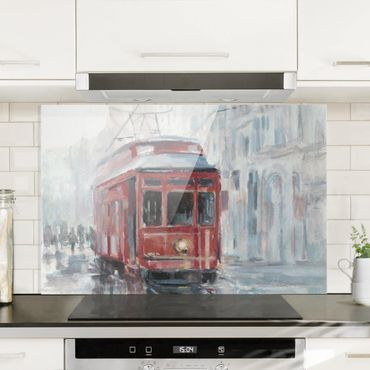 Paraschizzi in vetro - Studio del tram II - Orizzontale 2:3