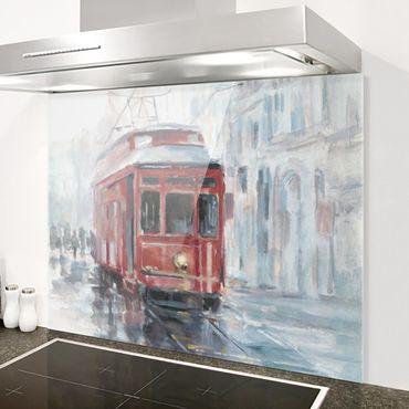 Paraschizzi in vetro - Studio del tram II - Orizzontale 3:4